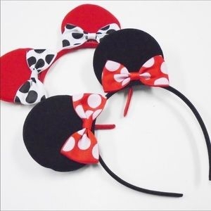 Adorable, Black/Red/White, Minnie Mouse Headbands!